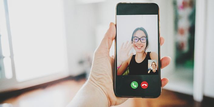 smartphone video call conference call