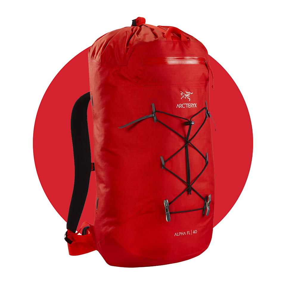 """<p><strong>'arc''teryx'</strong></p><p>arcteryx.com</p><p><strong>$289.00</strong></p><p><a href=""""https://go.redirectingat.com?id=74968X1596630&url=https%3A%2F%2Farcteryx.com%2Fus%2Fen%2Fshop%2Fmens%2Falpha-fl-40-backpack&sref=https%3A%2F%2Fwww.menshealth.com%2Ftechnology-gear%2Fg34088511%2Fmens-health-outdoor-awards-2020%2F"""" rel=""""nofollow noopener"""" target=""""_blank"""" data-ylk=""""slk:BUY IT HERE"""" class=""""link rapid-noclick-resp"""">BUY IT HERE</a></p><p>Designed with rock, alpine, and ice climbing in mind, this backpack from Arc-teryx is a """"fast and light"""" (FL) option for rapid outdoor travel. It's the kind of pack that can withstand brutal weather and carry a ton of gear, without becoming uncomfortable or cumbersome on your shoulders and back. Even if you're not taking on a massive peak, this backpack is a valuable addition to any outdoor-adventure-lover's arsenal. </p>"""