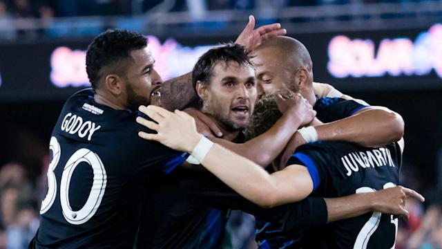 "Just as <a class=""link rapid-noclick-resp"" href=""/soccer/players/chris-wondolowski/"" data-ylk=""slk:Chris Wondolowski"">Chris Wondolowski</a> (center) stars for the Quakes on the field, the franchise is hoping Alan Ortega will be a star on the e-pitch. (Sporting News)"