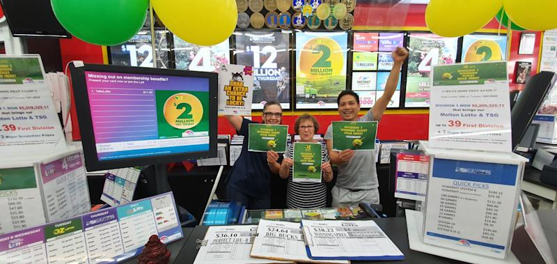 A woman holidaying in Victoria didn't expect to pick up a winning lotto ticket. Source: The Lott