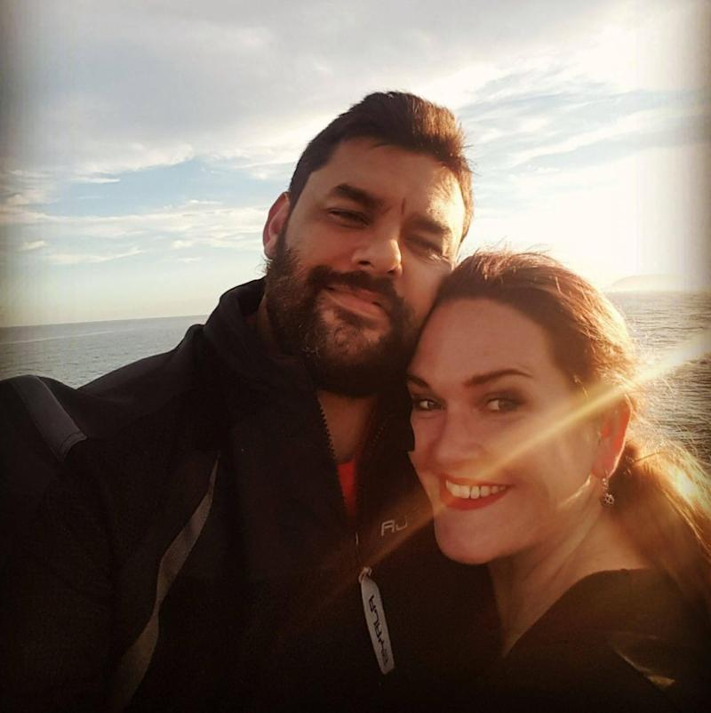 Em and her hubby both work full-time, with Em recently starting a uni course too. Photo: Supplied