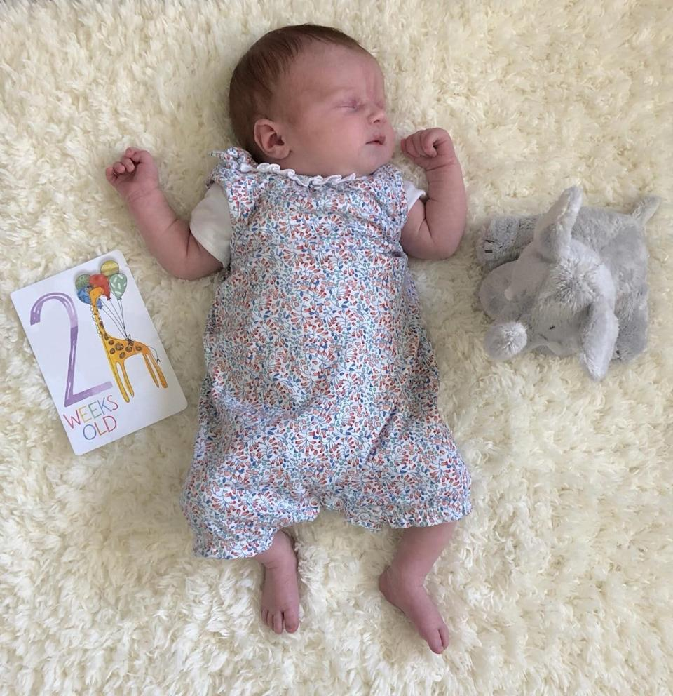 Little Sophia was delivered by her mum in the bathroom [Photo: Stacey Porter]
