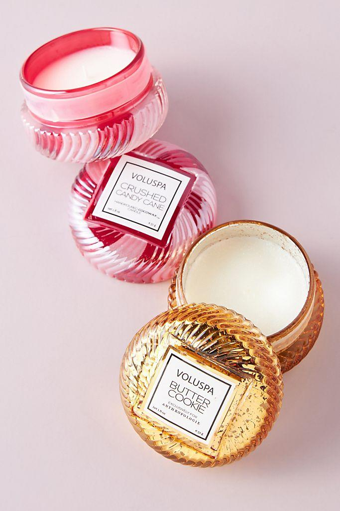 Voluspa Holiday Macaron Candles, Set of 2 available at Anthropologie.