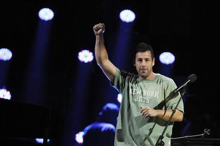 "Adam Sandler performs during the ""12-12-12"" benefit concert for victims of Superstorm Sandy at Madison Square Garden in New York"