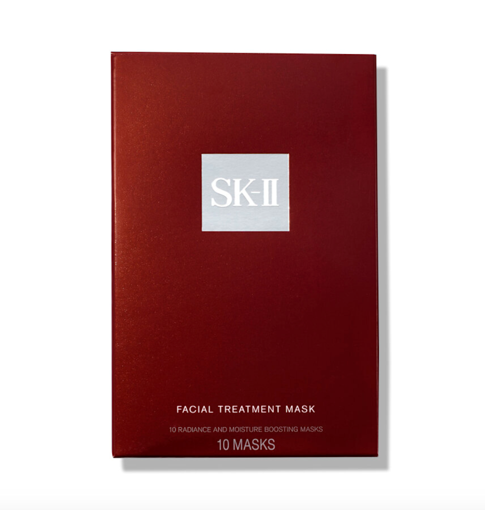"""<h2>SK-II Facial Treatment Mask (10-Count)</h2><br>We couldn't do a luxury gift round-up without including the holy grail of sheet masks — a status confirmed by our beauty writer who is VERY in the sheet-mask know. Prepare for your mom to be amazed by this moisture-boosting and radiance-enhancing treatment that contains vitamins, minerals, and amino acids. <br><br><strong>SK-II</strong> Facial Treatment Mask (10-Count), $, available at <a href=""""https://go.skimresources.com/?id=30283X879131&url=https%3A%2F%2Fwww.violetgrey.com%2Fproduct%2Ffacial-treatment-mask%2FSKI-82422884"""" rel=""""nofollow noopener"""" target=""""_blank"""" data-ylk=""""slk:Violet Grey"""" class=""""link rapid-noclick-resp"""">Violet Grey</a>"""