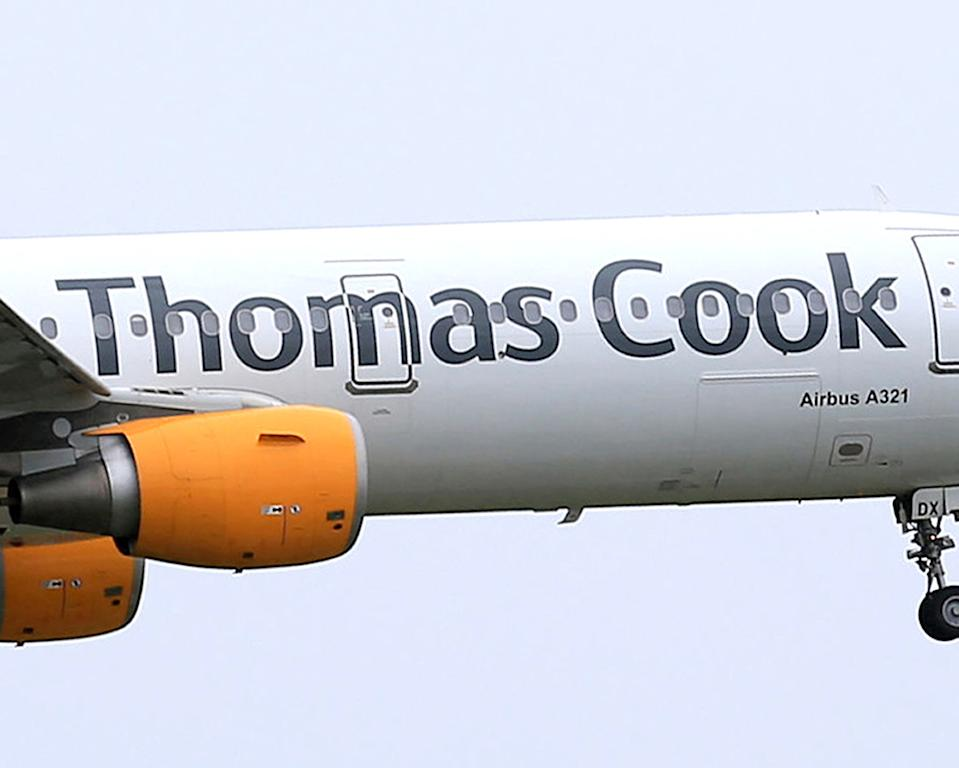 Embargoed to 0001 Thursday March 19 File photo dated 19/05/16 of a Thomas Cook logo on an aeroplane. Taxpayers will fork out at least ??156 million due to the collapse of Thomas Cook, a report by the Whitehall spending watchdog has found.