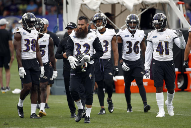 The Ravens secondary is expected to be very busy in Week 4 against Pittsburgh's talented pass-catchers. (AP Photo/Patrick Semansky)