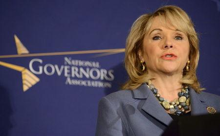 File photo of Oklahoma Republican Governor Mary Fallin making remarks before the opening of the National Governors Association Winter Meeting in Washington