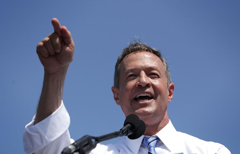 """O'Malley&nbsp;announced he was <a href=""""http://www.huffingtonpost.com/entry/martin-o-malley-2016_us_562551f8e4b02f6a900d5d62?gpg5jyvi"""">suspending his campaign</a>&nbsp;on&nbsp;Feb. 1, 2015, the night of the 2016 Iowa caucuses."""