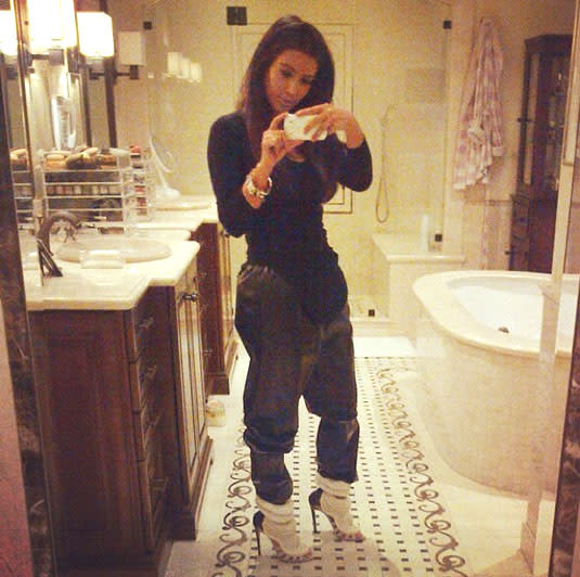 School Bathroom Selfies kim kardashian's bathroom selfies: from least to most revealing