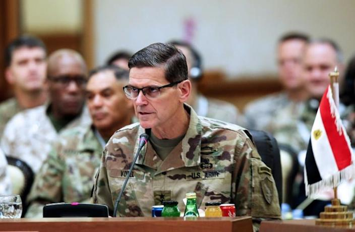 Former commander of the US Central Command in the Middle East, Joseph Votel, said the abandonment of the Kurds will severely damage US credibility (AFP Photo/Yasser Al-Zayyat)