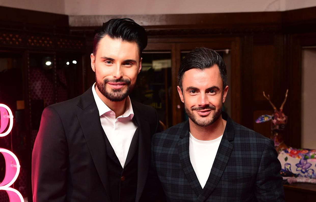 Rylan Clark-Neal has separated from his husband Dan Neal after six years together. (PA)