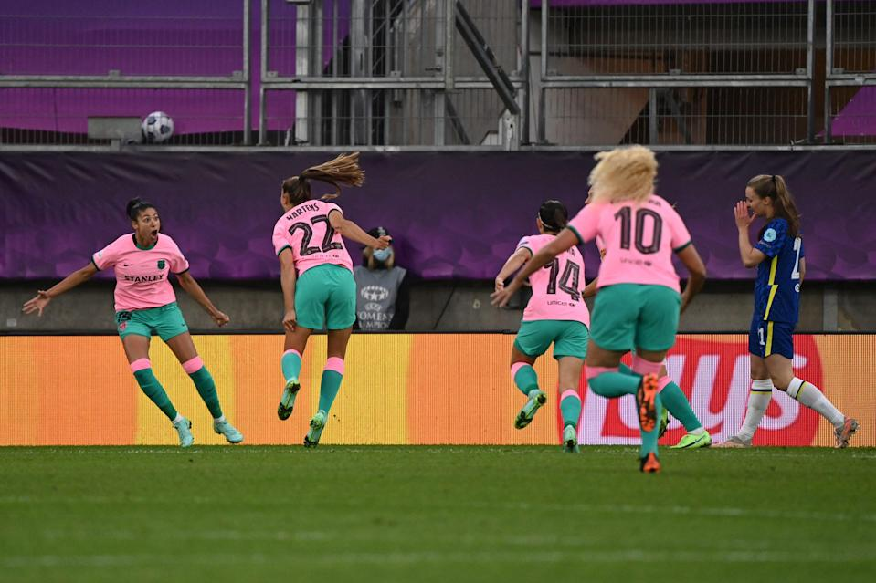 <p>Barca were too good for the Blues</p> (AFP via Getty Images)