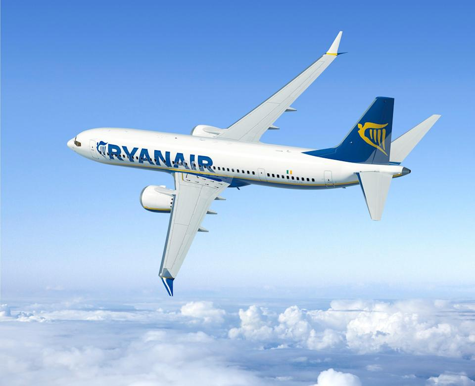 Taking off: Ryanair's publicity image of the Boeing 737 Max following its order of the plane in 2014 (Ed Turner)