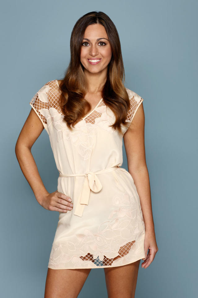 """<b>SARAH NEWLON (""""The Bachelor"""" Season 11, Brad Womack)</b><br><br>This girl does not want her 15 minutes of fame to end. She is single and ready to mingle, and eager to get in the mansion to hang out with the hot single men. A friend of Erica Rose, she knows she needs to do anything to stay in """"Bachelor Pad."""" Sharing the mansion with Reid should also be interesting since Sarah shared an intimate kiss with Reid while he had a girlfriend."""