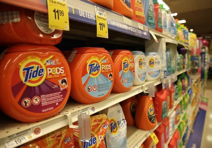 Procter & Gamble Tide detergent pods are seen at the Safeway store in Wheaton Maryland