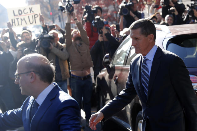 Former national security adviser Michael Flynn departs U.S. District Court in Washington Dec. 1. He pleaded guilty to lying to the FBI about his contacts with Russia's ambassador to the United States. (Photo: Jonathan Ernst/Reuters)