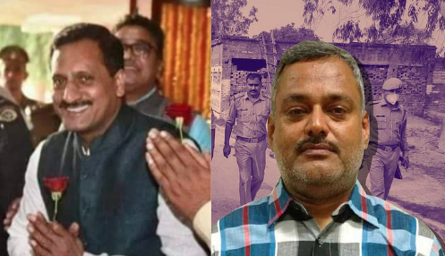 Left: BJP Leader Vikas Dubey. Right: History-sheeter Vikas Dubey.