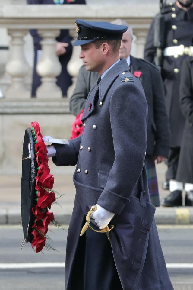 The Duke of Cambridge pays his respects