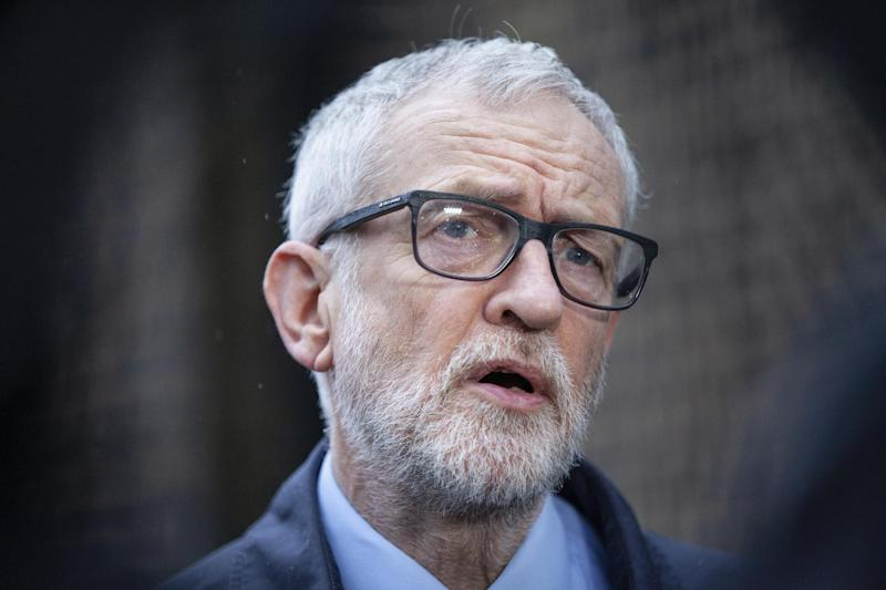 A file photo of Jeremy Corbyn who accused the Labour party of making a 'political' decision regarding the seven whistleblowers: PA