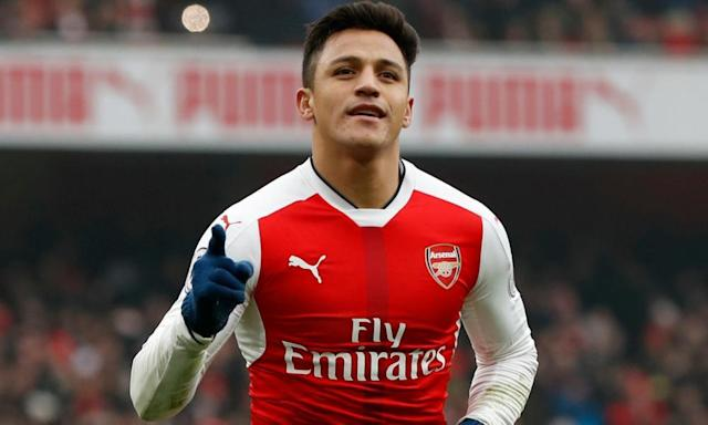 """<span class=""""element-image__caption"""">Alexis Sánchez is demanding a pay rise from £130,000 a week to £250,000 and has made clear to Arsenal that this is non-negotiable.</span> <span class=""""element-image__credit"""">Photograph: John Sibley/Reuters</span>"""