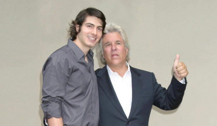 Brandon Routh with producer, Jon Peters - Credit: WENN