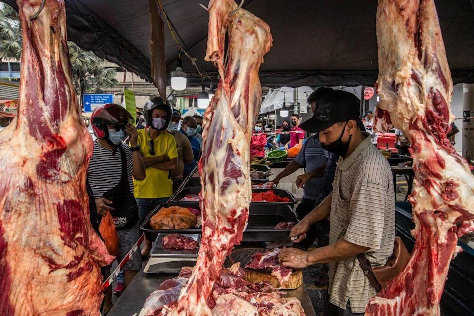 The meat cartel scandal has led into the investigation of government agencies as well as a logistics company. — Picture by Firdaus Latif