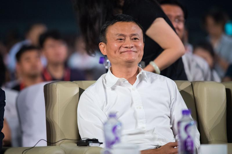Leading the way Alibaba chairman Jack Ma at a conference in Yunqi Cloud Town in Hangzhou China