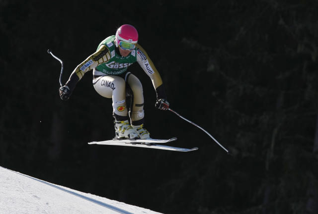 SCHLADMING, AUSTRIA - MARCH 14: (FRANCE OUT) Benjamin Thomsen of Canada competes during the Audi FIS Alpine Ski World Cup Men's Downhill on March 14, 2012 in Schladming, Austria. (Photo by Alexis Boichard/Agence Zoom/Getty Images)