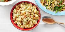 "<p>This potato salad gets a delicious spin with the help of another summer picnic classic.</p><p><strong><a href=""https://www.countryliving.com/food-drinks/recipes/a35603/deviled-egg-potato-salad/"" rel=""nofollow noopener"" target=""_blank"" data-ylk=""slk:Get the recipe"" class=""link rapid-noclick-resp"">Get the recipe</a>.</strong></p>"