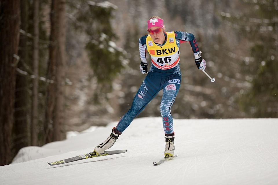 <p><strong>Age: </strong>28</p><p><strong>Hometown:</strong> Winthrop, WA</p><p><strong>Event:</strong> Cross-Country Skiing</p><p>Living in Alaska, Sadie Bjornsen has more opportunity to train on snow that many others — she skis on a glacier once per week, and fills in the rest of her time working up her endurance on roller skis, running with ski poles, ski bounding or just by going hiking, biking or swimming. With so many hours of exercise in her schedule, she definitely loves her coffee in the morning before she fuels up for the day.</p>