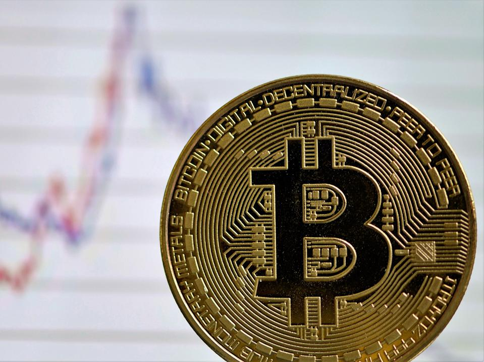 Bitcoin has crashed in price by more than a third since April 2021 (AFP via Getty Images)