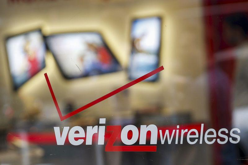 File photo of the entrance to a Verizon wireless store in New York