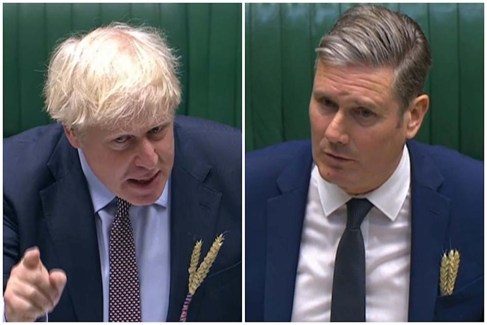 Boris Johnson's government was criticised by Starmer as lacking competence. (PA Images)