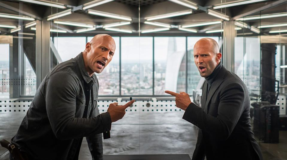 The Rock and Jason Statham in Hobbs & Shaw (credit: Universal)