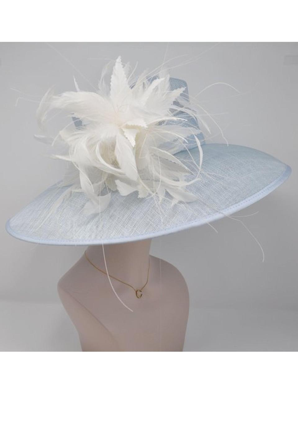 """<p><strong>MissRaceKentuckyHat</strong></p><p>etsy.com</p><p><strong>$145.00</strong></p><p><a href=""""https://go.redirectingat.com?id=74968X1596630&url=https%3A%2F%2Fwww.etsy.com%2Flisting%2F667434827%2Fpowder-blue-with-ivory-feather-flowers&sref=https%3A%2F%2Fwww.townandcountrymag.com%2Fstyle%2Ffashion-trends%2Fg9267914%2Fbest-kentucky-derby-hats-and-fascinator-headbands%2F"""" rel=""""nofollow noopener"""" target=""""_blank"""" data-ylk=""""slk:Shop Now"""" class=""""link rapid-noclick-resp"""">Shop Now</a></p><p>Between the powder blue hue and the elegant feathers, this hat is sure to turn heads. </p>"""