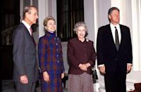 <p>Bill and Hillary on another visit to Buckingham Palace.</p>