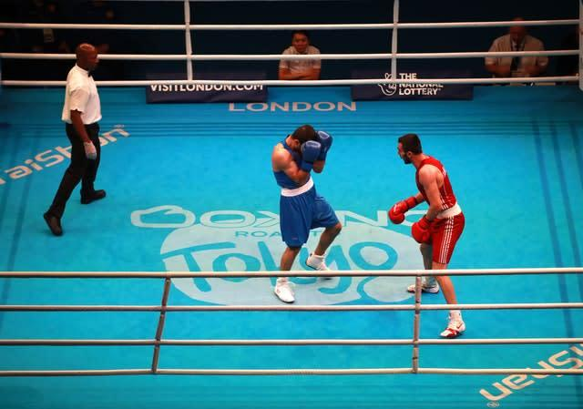 The Boxing Road to Tokyo event was abandoned after three days (Adam Davy/PA)
