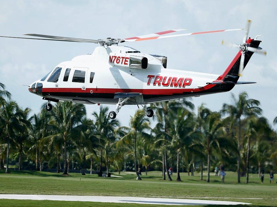 Donald Trump is reportedly selling another one of his personal helicopters. (Getty Images)