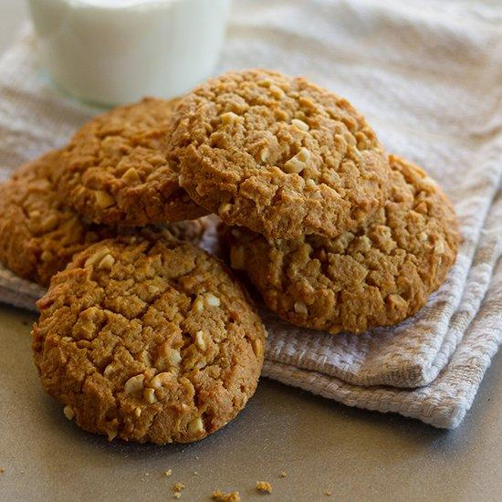 "<p>Crunchy natural peanut butter gives these crisp and buttery cookies a deeply peanutty taste, but any peanut butter will work well in this recipe.</p><p><a href=""https://www.foodandwine.com/recipes/chunky-peanut-butter-cookies"">GO TO RECIPE</a></p>"