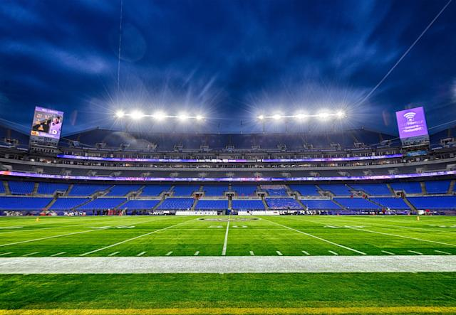A fan died at M&T Bank Stadium during Saturday's game. (Photo by Mark Goldman/Icon Sportswire via Getty Images)