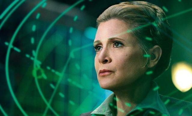 The late Carrie Fisher in 2015's 'Star Wars: The Force Awakens' (Photo: Lucasfilm)