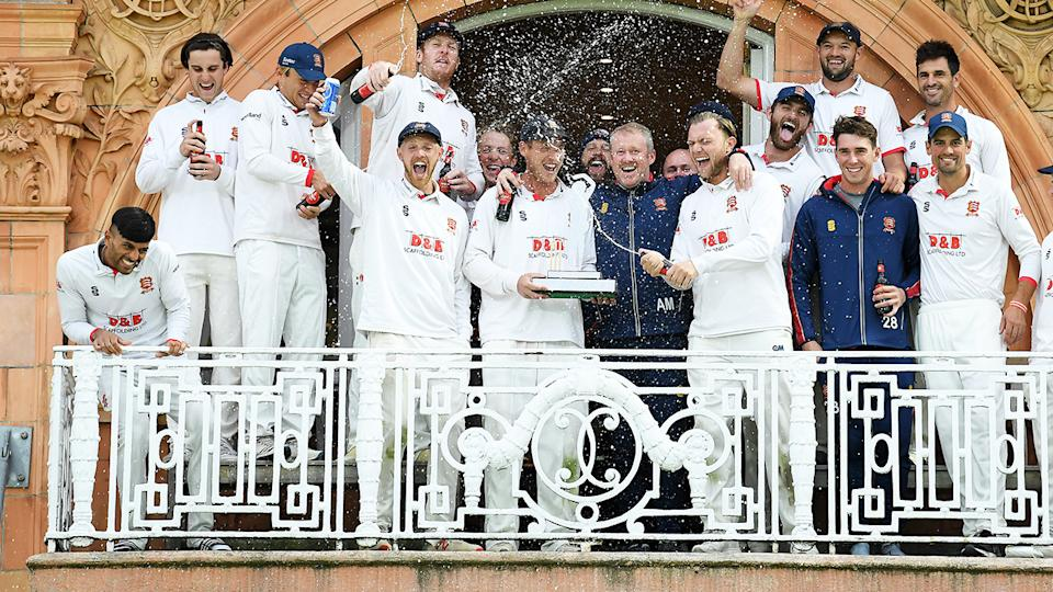 Essex players, pictured here celebrating after winning the Bob Willis Trophy.