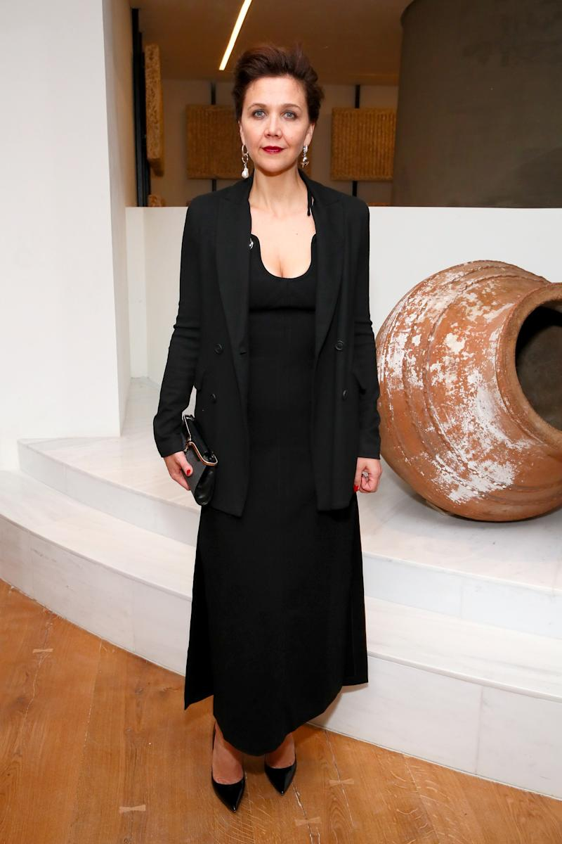 Maggie Gyllenhaal attends The Shops & Restaurants at Hudson Yards Vip Grand Opening Event on March 14, 2019 in New York City.