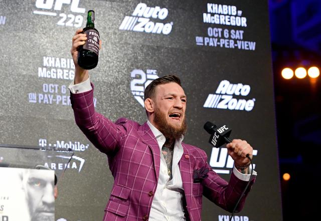 Ex-featherweight and lightweight champion Conor McGregor signed a six-fight contract extension with the UFC. (Getty Images)