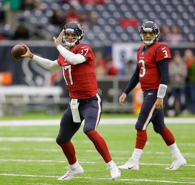 Brock Osweiler (17) and Tom Savage. (Getty Images)