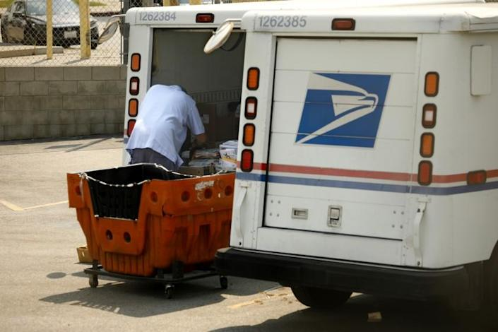 """Piles of unopened USPS mail were found at two locations in Glendale this week. <span class=""""copyright"""">(Carolyn Cole/Los Angeles Times)</span>"""