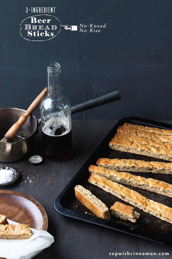 """<p>All you need to make these breadsticks is beer, butter and flour — all things that are probably waiting in your pantry right now. </p><p><a href=""""http://www.topwithcinnamon.com/2013/02/3-ingredient-beer-bread-sticks-or-pizza-dough-omfg-no-knead-no-rise.html"""" rel=""""nofollow noopener"""" target=""""_blank"""" data-ylk=""""slk:Get the recipe from Top with Cinnamon »"""" class=""""link rapid-noclick-resp""""><em>Get the recipe from Top with Cinnamon »</em></a><br></p>"""