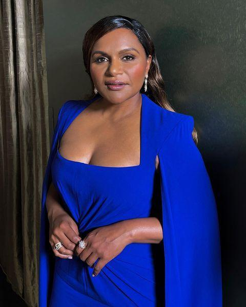 """<p>Mindy Kaling embraced colour to present an award during the evening in an indigo Alex Perry dress, paired with jewellery by David Yurman.</p><p><a href=""""https://www.instagram.com/p/CNQw2g_ra3u/?utm_source=ig_embed&utm_campaign=loading"""" rel=""""nofollow noopener"""" target=""""_blank"""" data-ylk=""""slk:See the original post on Instagram"""" class=""""link rapid-noclick-resp"""">See the original post on Instagram</a></p>"""