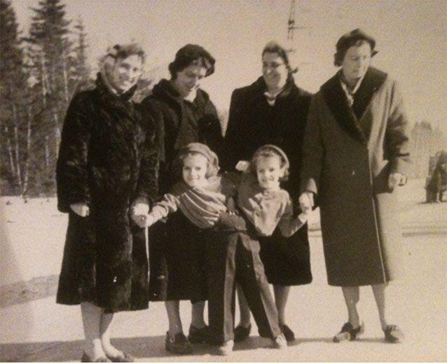 An outing with Aunty Nadya (second from left) and Lydia Mikhailovna (second from right). Picture: Julie Butler